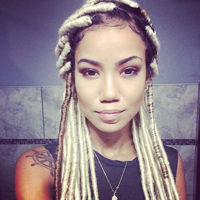 Do We Love It Jhene Aiko Rocks Blonde Faux Locs The