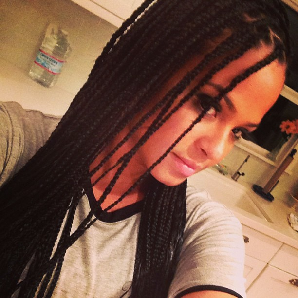 DO WE LOVE IT Christina Milians New BOX BRAIDS