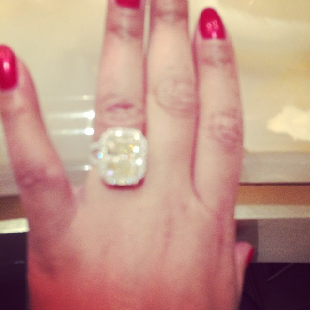 Yellow engagement rings celebrity
