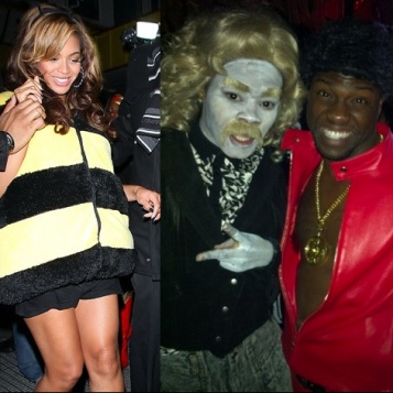 celeb costume round up bee yonce chris brown his package teyana white bob taylor tons more get crazy for halloween