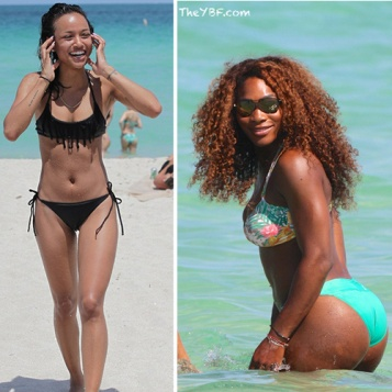 MIAMI BEACH BIKINI BANGERS Serena Williams Flaunts Her Curves On The Beach Karrueche Tran Chills In A Tiny Black Bikini Before Club