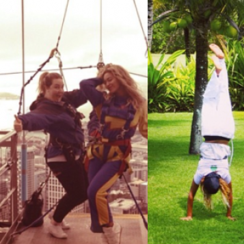 STUNT QUEEN: Beyonce GOES FREEFALLING In New Zealand, Post