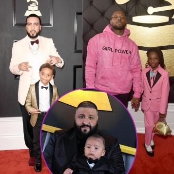 grammys daddy duty dj khaled son asahd 39 s matching suits