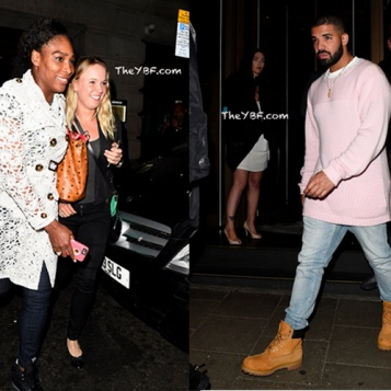 Drake takes serena williams to celebratory dinner after she kicks ass
