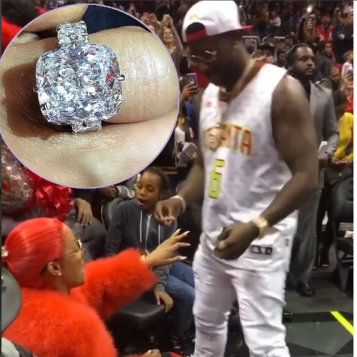 Engaged Gucci Mane Proposed To Keyshia Kaoir Courtside