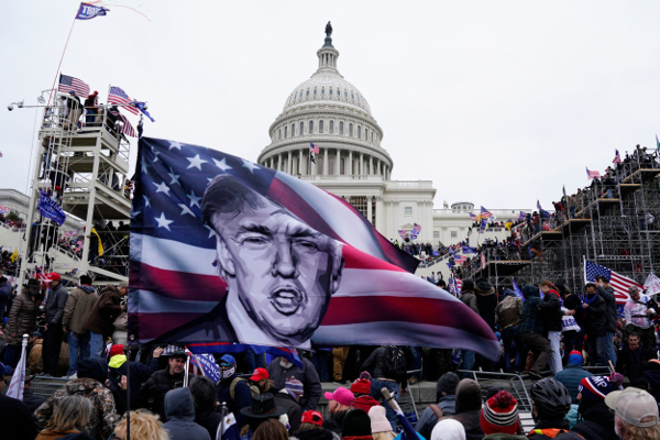 Trump flag flown during riot at the Capitol