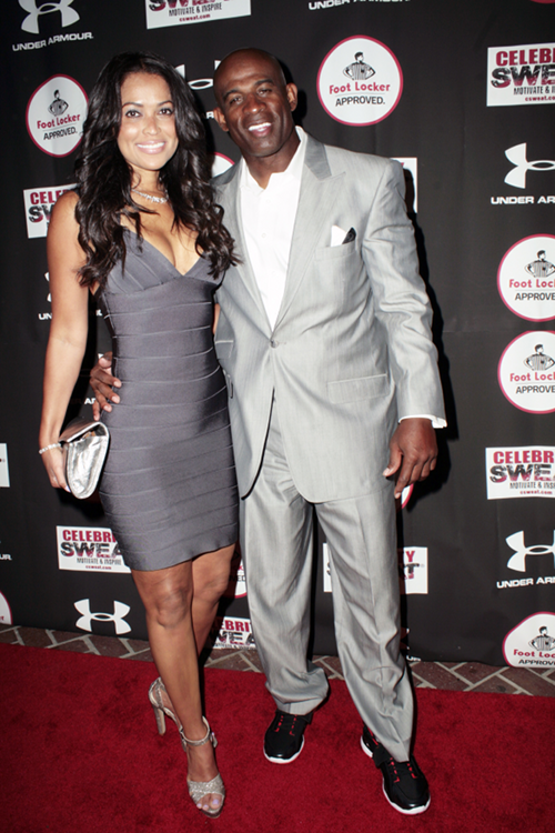 Deion Sanders came hugged up with his new girlfriend Tracey Edmonds ...