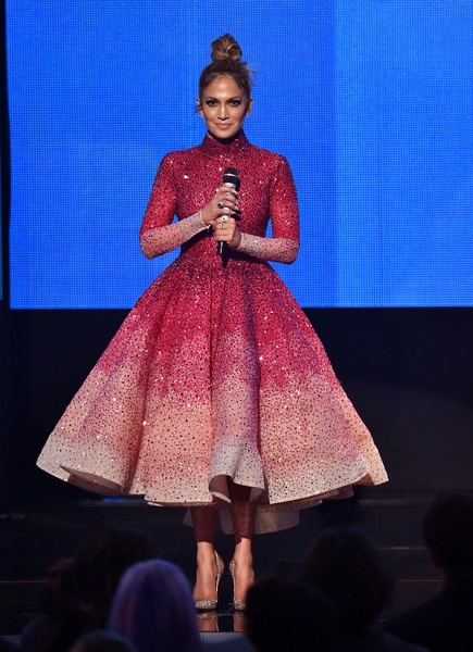 Michael Cinco 50 S Inspired Crystal Ombre Dress The