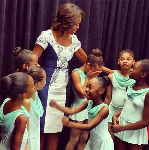 Michelle Obama Does Harlem