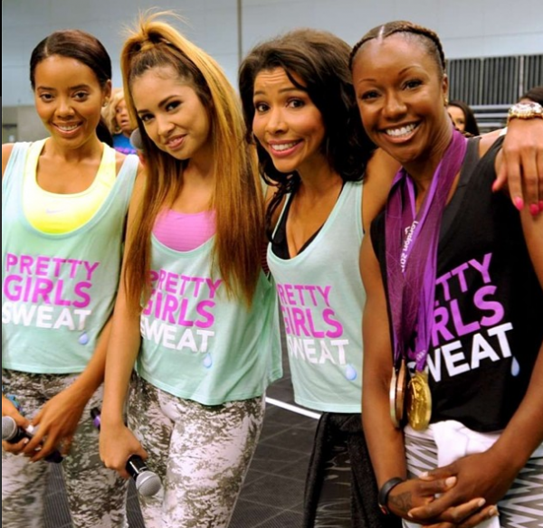 Pretty girls sweat