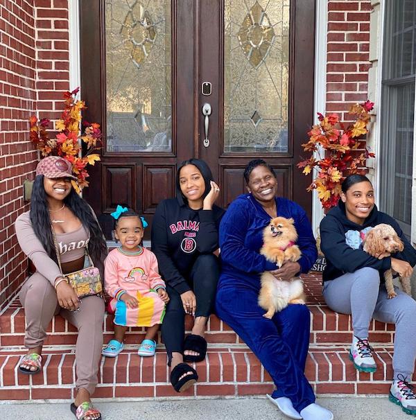 Toya Johnson, Reginae Carter and Reign Rushing