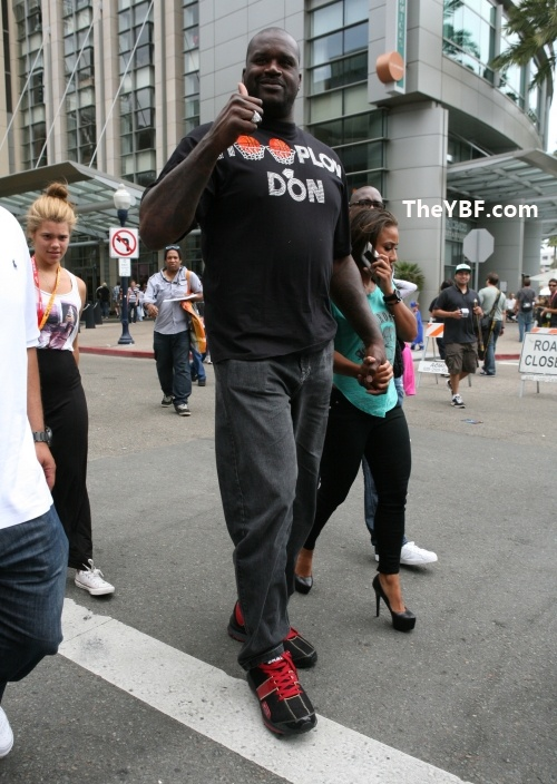 Shaq and his girlfriend