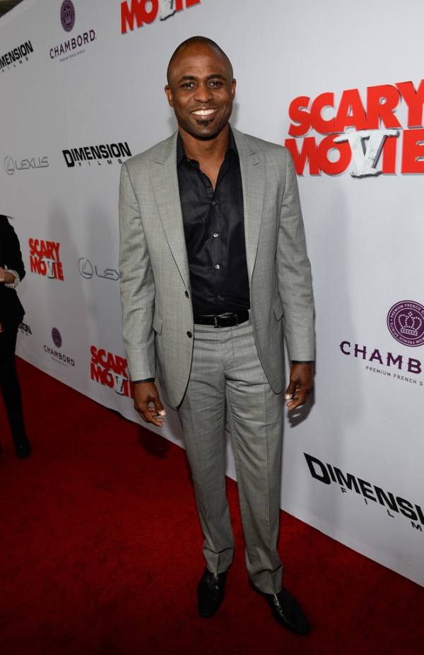 "Comedic actor Wayne Brady attended the premiere of ""Scary Movie 5 ..."