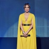 Michael Costello Canary Yellow Jumpsuit With Cape
