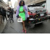 Justine Skye Arrives for Jeremy Scott!