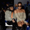 Elisa Johnson and EJ Johnson at the Laquan Smith show