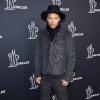 """Model Jeremy """"Hot Felon"""" Meeks backstage at Moncler Grenoble"""