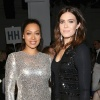 """Power"" actress LaLa Anthony and ""This Is Us"" actress Mandy Moore at the Naeem Khan show"