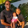 Dwyane Wade, Kaavia James and Gabrielle Union