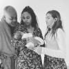 Damon Dash with his new son, Baby Dusko and daughters Tallulah and Ava