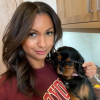 Eboni K. Williams and Dog Carey James