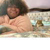 Gabby Sidibe & Her Cat