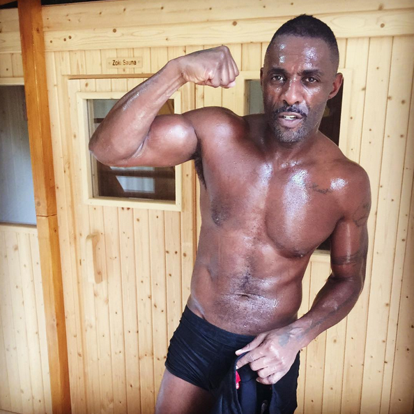 SWEATY & SHREDDED! Idris Elba Is Shirtless & Pants-less As He Transforms Into A Professional Kickboxer