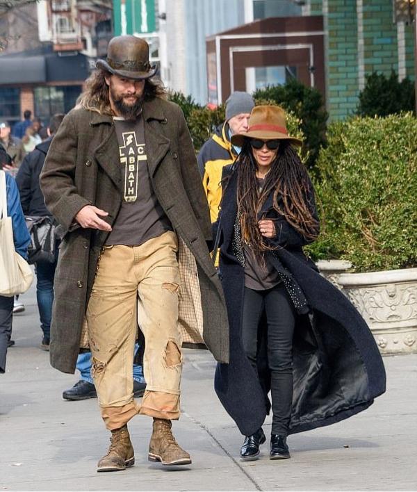 Newlyweds Lisa Bonet & Jason Momoa On Parent Duty In NYC