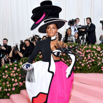 MET GALA SLAYAGE: Janelle Monae Was Literally A Work Of Art Her Blinking Eye Made It Next Level
