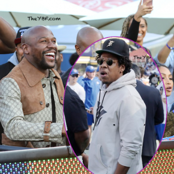 FOOTBALL FUN: Jay-Z Visits Roc Nation Client Todd Gurley II At Rams V. Seahawks Game + Floyd Mayweather Cops The Touchdown Ball, Because He Doesn't Have Enough Valuable Things