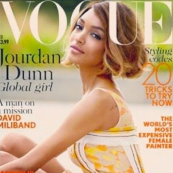 Jourdan Dunn LANDS February 2015 BRITISH VOGUE Cover - The FIRST Black Covergirl In 12 Years!