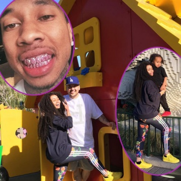 But he was all about being a kid hitting up an amusement park with his  girlfriend Blac Chyna and her son King Cairo. 9f94f1b16