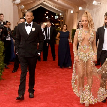 POWER COUPLE: Beyonce DAZZLES In See-Through Givenchy Gown Alongside Husband Jay Z At The 2015 Met Gala