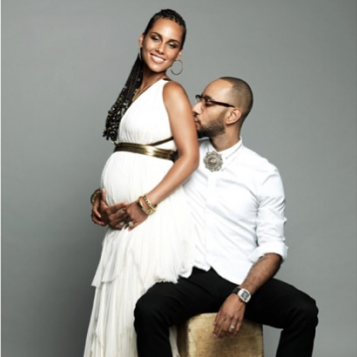 PREGNANT AGAIN Alicia Keys Swizz Beatz Announce Baby 2 Show Off Bump In Gorgeous New Photoshoot