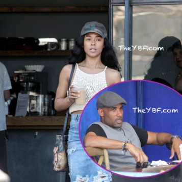 OUT   ABOUT  Serayah Makes A Java Run In L.A. + Boris Kodjoe Lunches With A  Friend 3f8b70c80