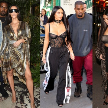 7ce7c6ebff1 Kanye and wife Kim took over Paris Fashion Week with umpteen outfit  changes