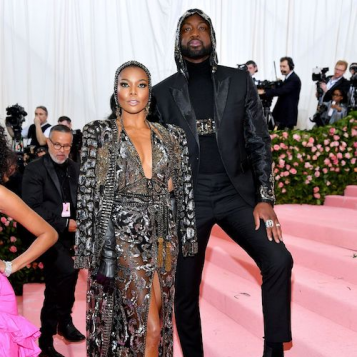 Dwyane Wade Gabrielle Union Don Matching Dundas 'Fits - Gab Gives LIFE In Jeweled Gown, D Gives Us A Jeweled Hoodie