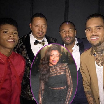 "Taraji P. Henson, Terrence Howard, Chris Brown, ""Empire"" Cast More Get MERRY At ""White Hot Holidays"" Taping"