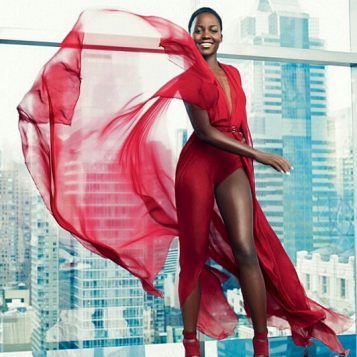 red hot lupita nyong o slays new lan e ads the young